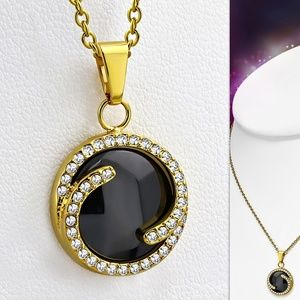 Jewelry - Black Ceramic & Gold Color Plated Stainless Steel